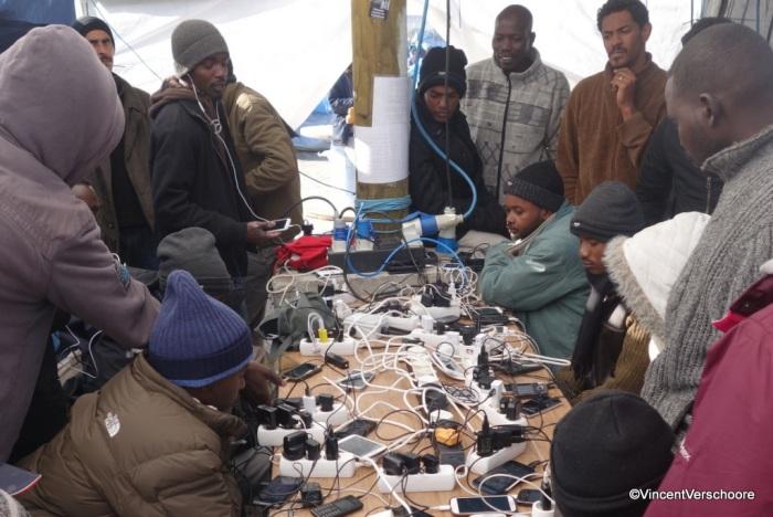Calais, camp desréfugiés.